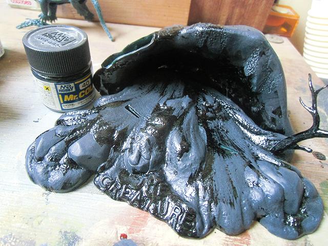 ジャーマングレーを塗ったところ