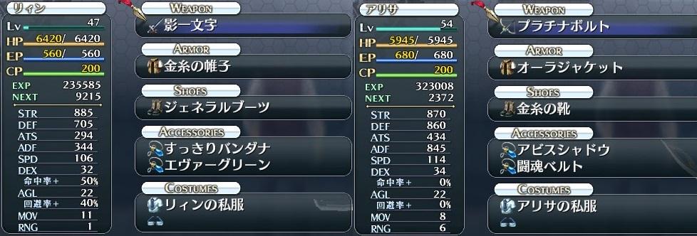 V&C戦装備(リィン・アリサ)