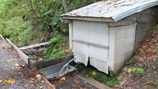 ペンケニコロベツ林道名水 (2)