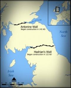 アントニヌスの長城とハドリアヌスの長城