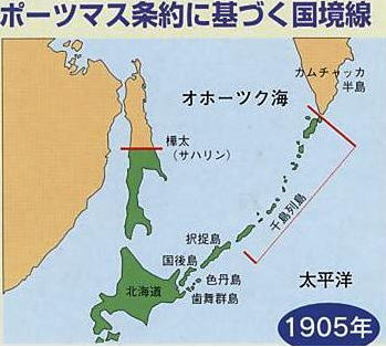 ポーツマス条約による国境線