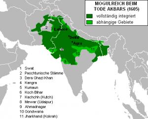 アクバル大帝時代のムガル帝国