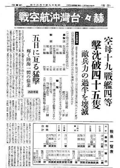 台湾沖航空戦誤認戦果