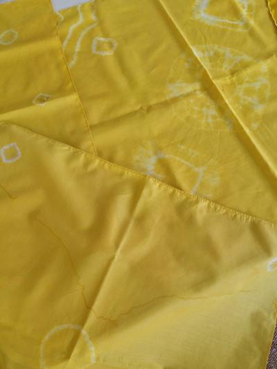 布を染める