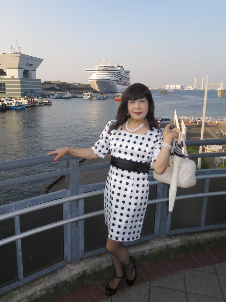 水玉ワンピ大桟橋A(2)