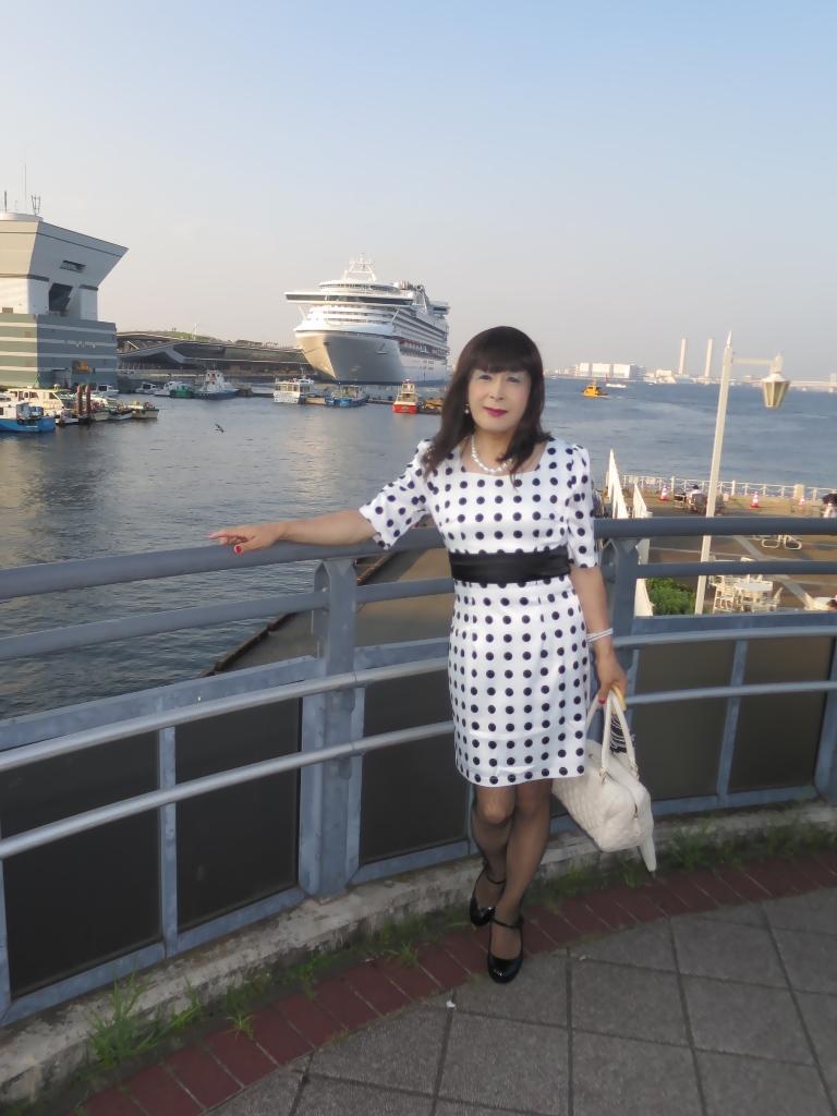 水玉ワンピ大桟橋A(1)