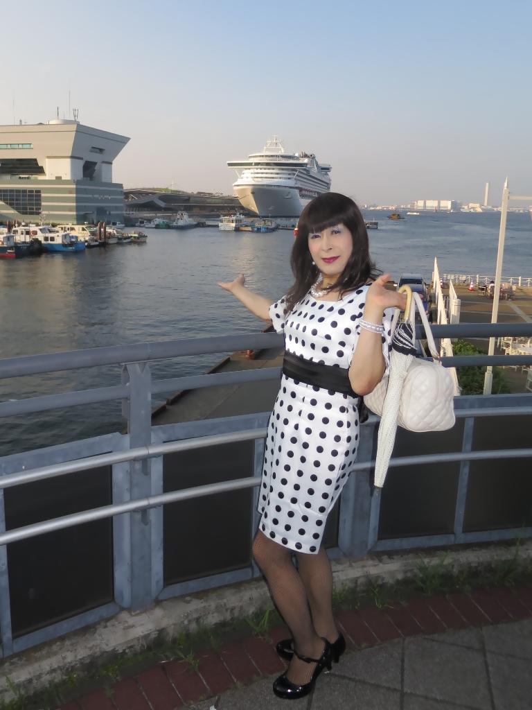 水玉ワンピ大桟橋A(3)