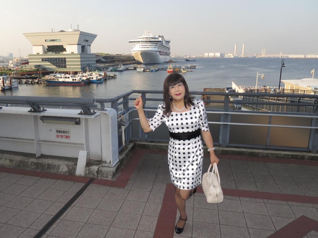 水玉ワンピ大桟橋A(4)