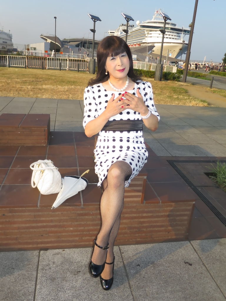 水玉ワンピ大桟橋A(5)