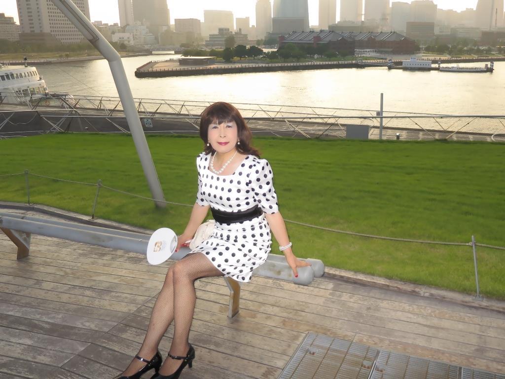 水玉ワンピ大桟橋A(8)