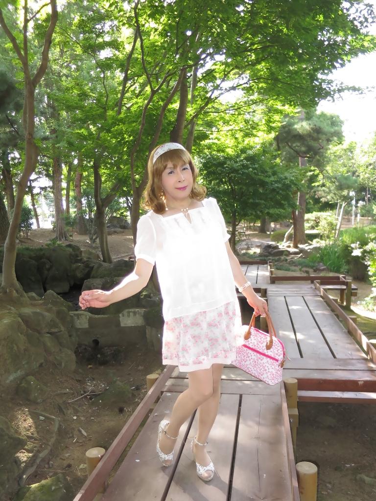 白トップ花柄スカートA(1)