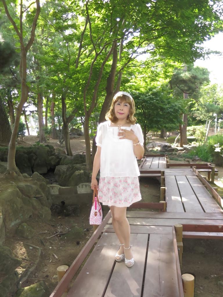 白トップ花柄スカートA(2)