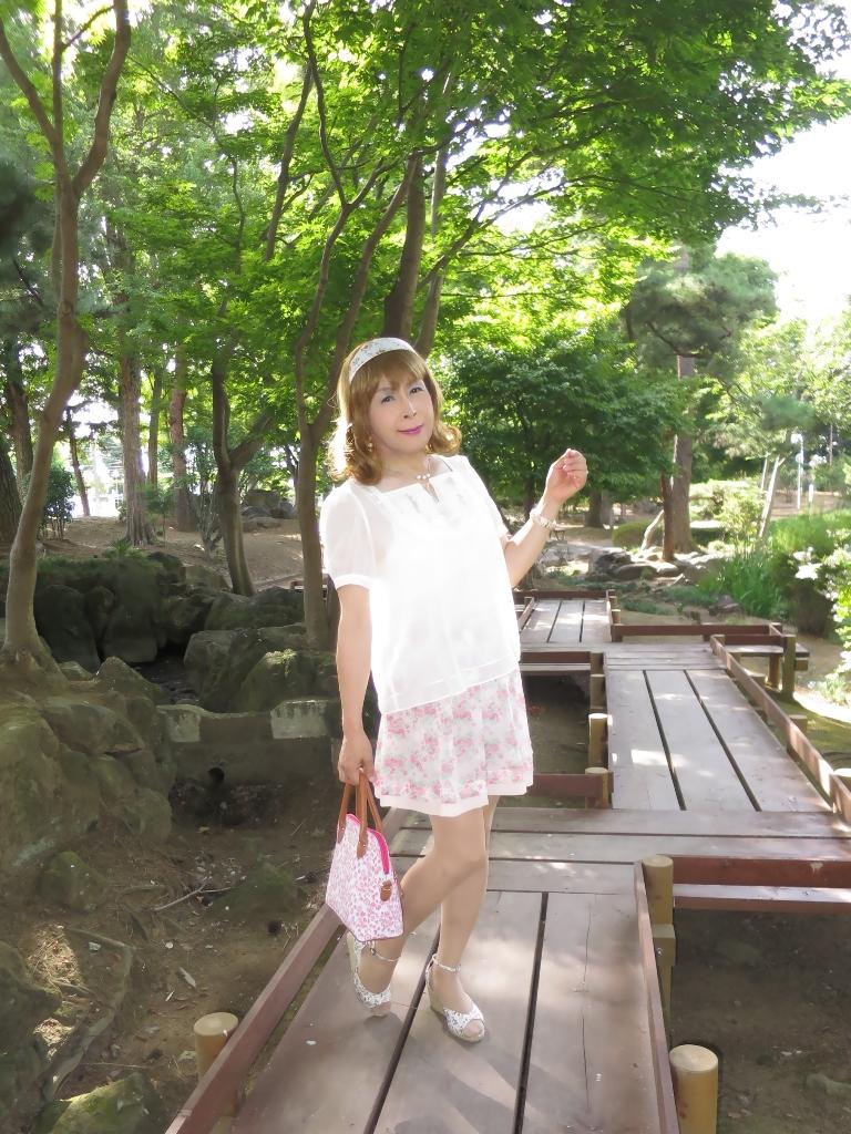 白トップ花柄スカートA(3)