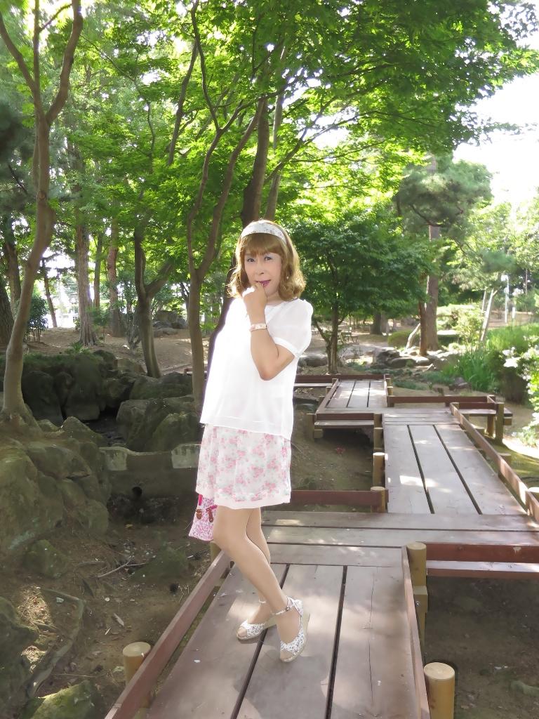 白トップ花柄スカートA(4)
