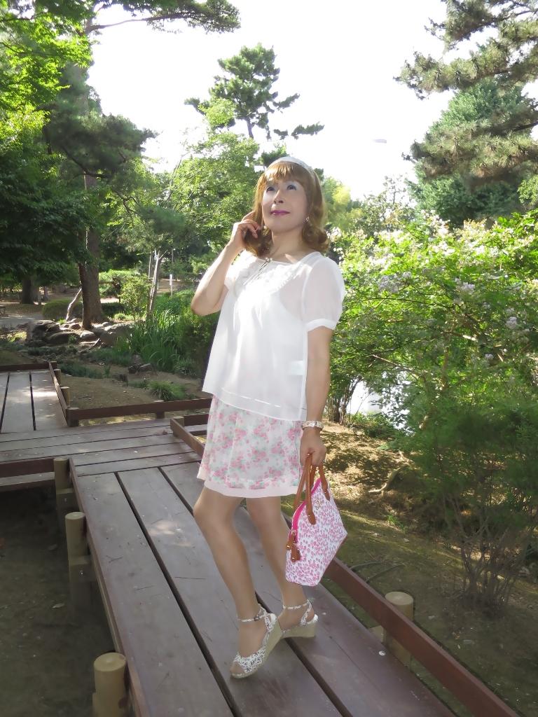 白トップ花柄スカートA(5)