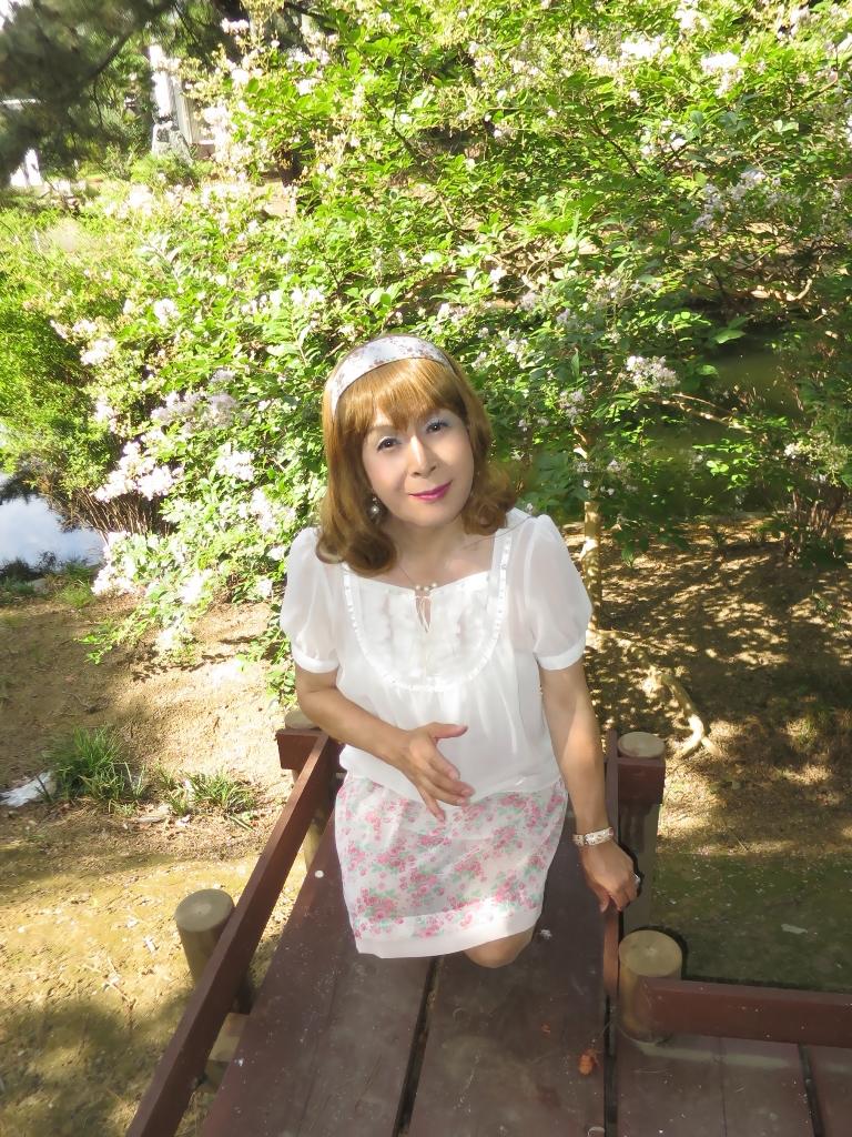 白トップ花柄スカートA(6)
