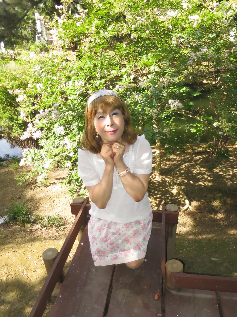 白トップ花柄スカートA(7)