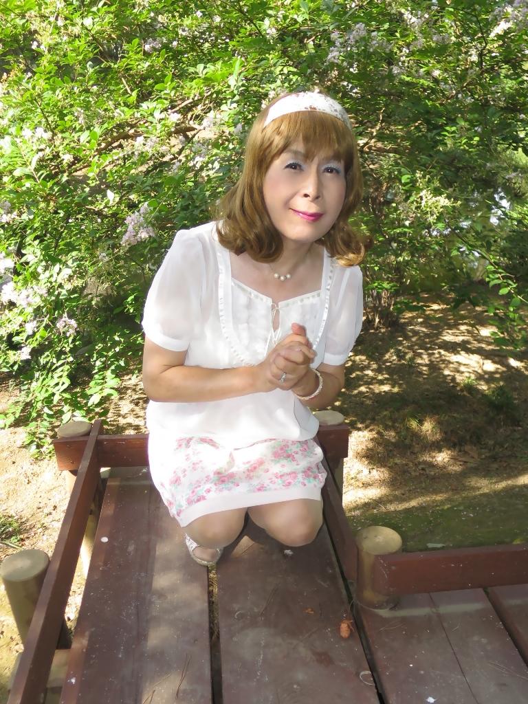 白トップ花柄スカートA(8)