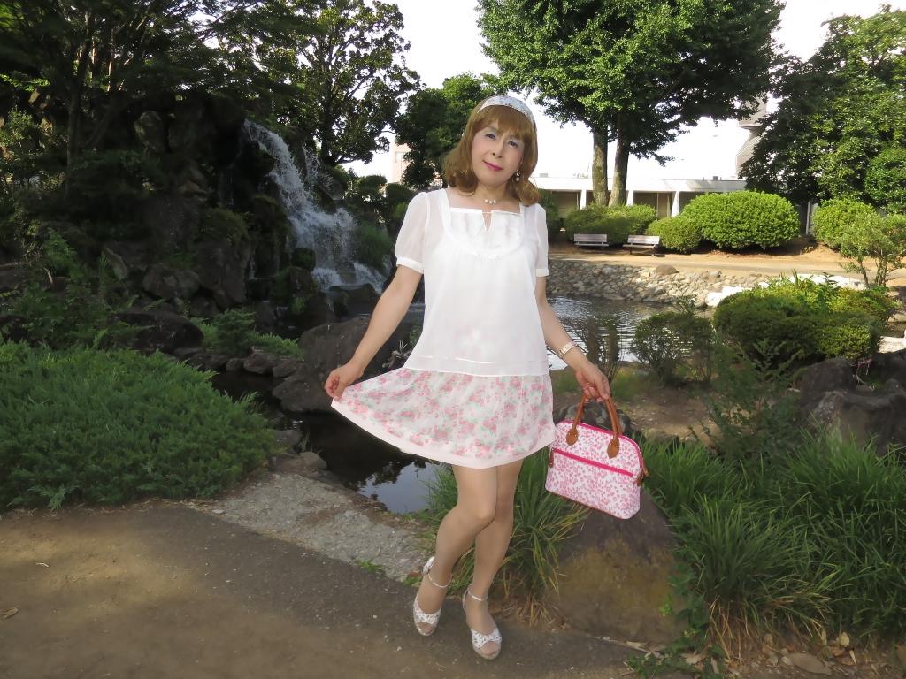 白トップ花柄スカートD(1)
