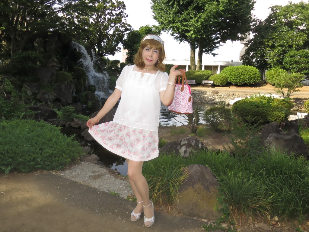 白トップ花柄スカートD(2)