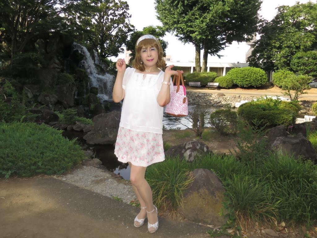 白トップ花柄スカートD(3)