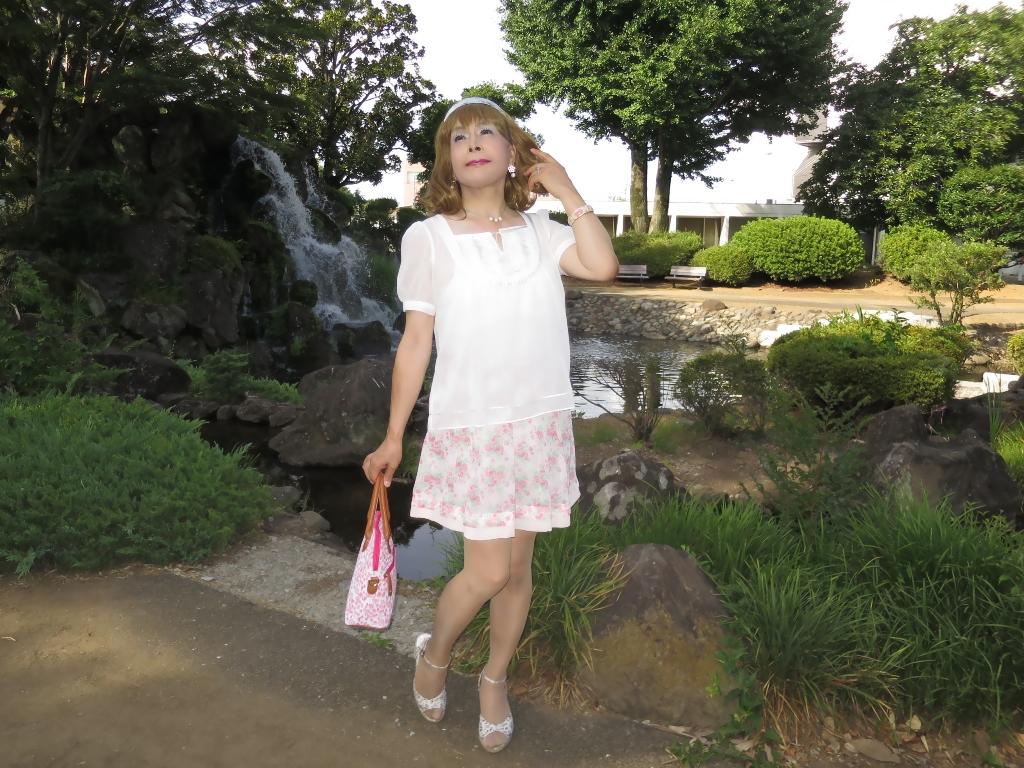 白トップ花柄スカートD(4)