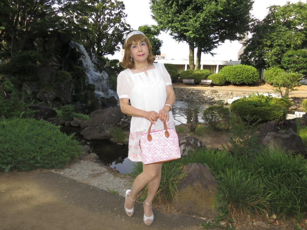 白トップ花柄スカートD(5)