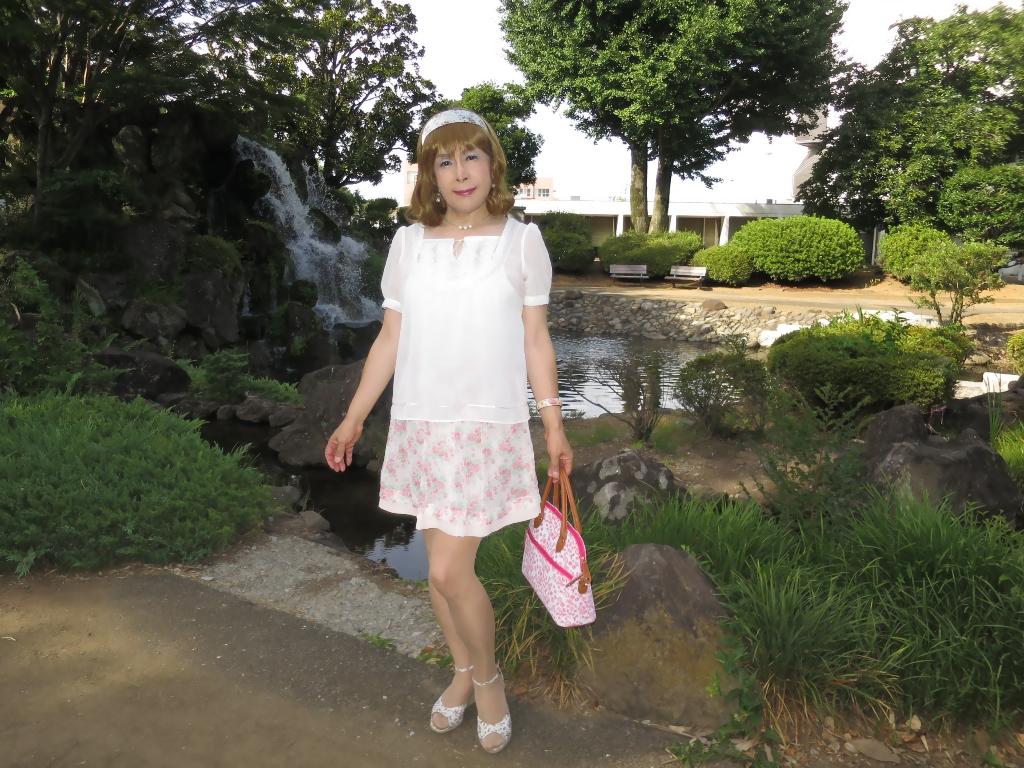 白トップ花柄スカートD(6)