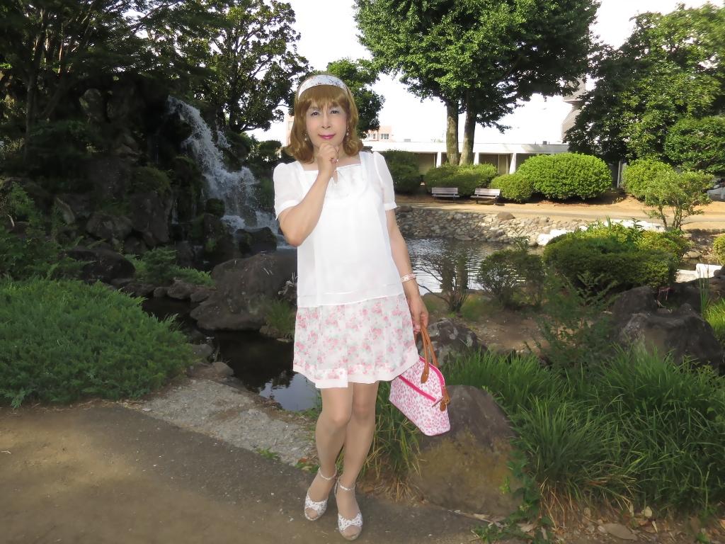 白トップ花柄スカートD(8)