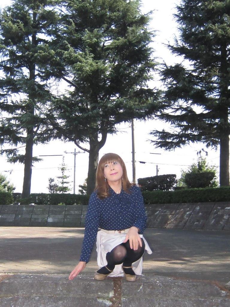 紺水玉ブラウスA(3)