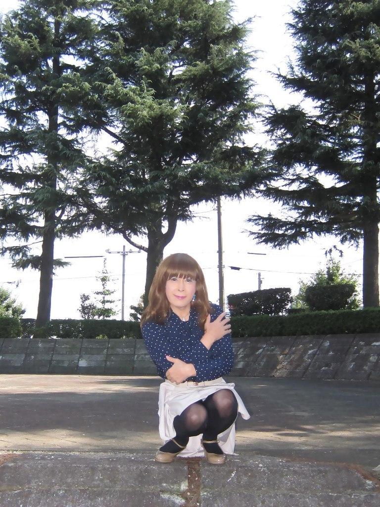 紺水玉ブラウスA(4)