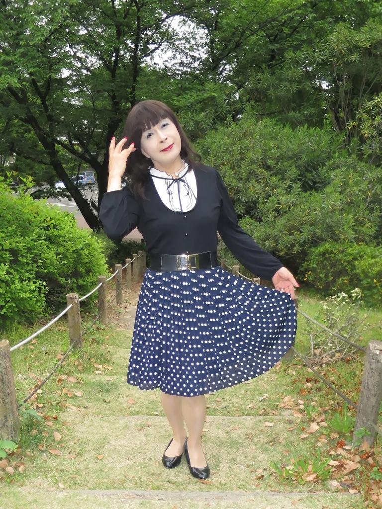水玉のプリーツスカートB(5)
