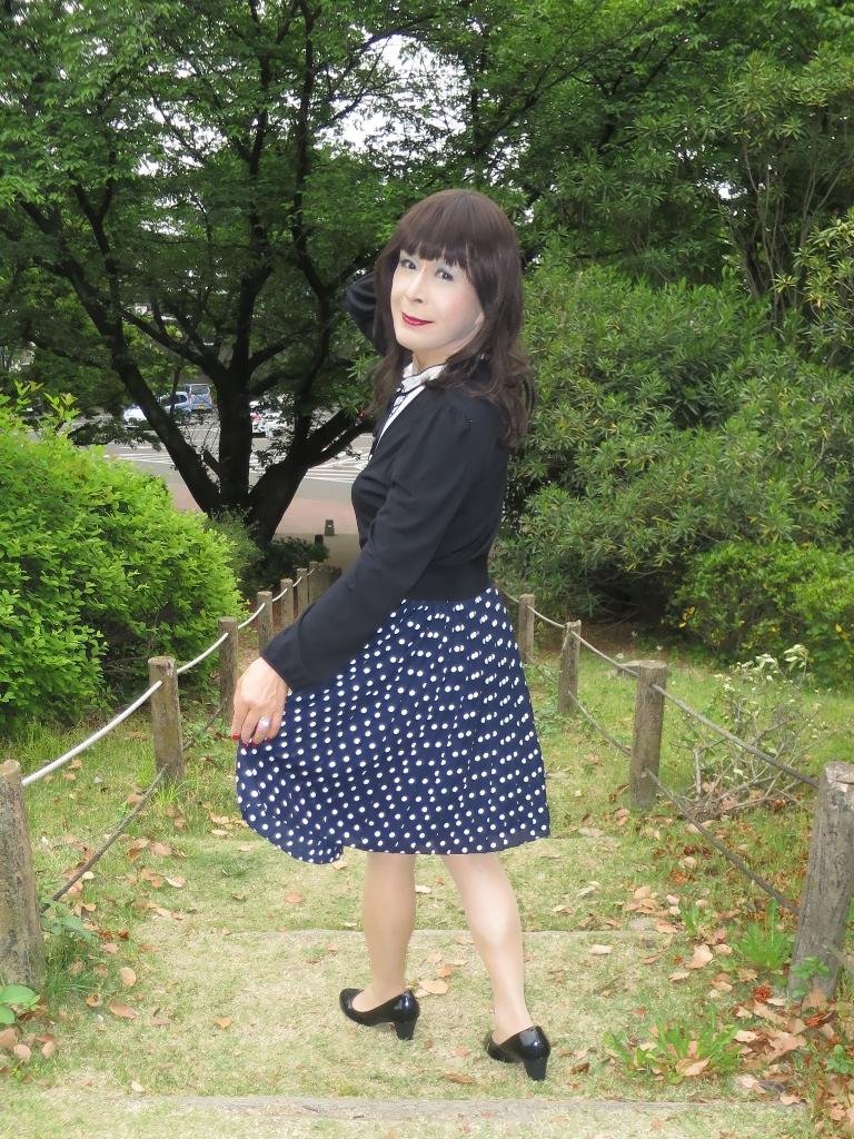 水玉のプリーツスカートB(6)