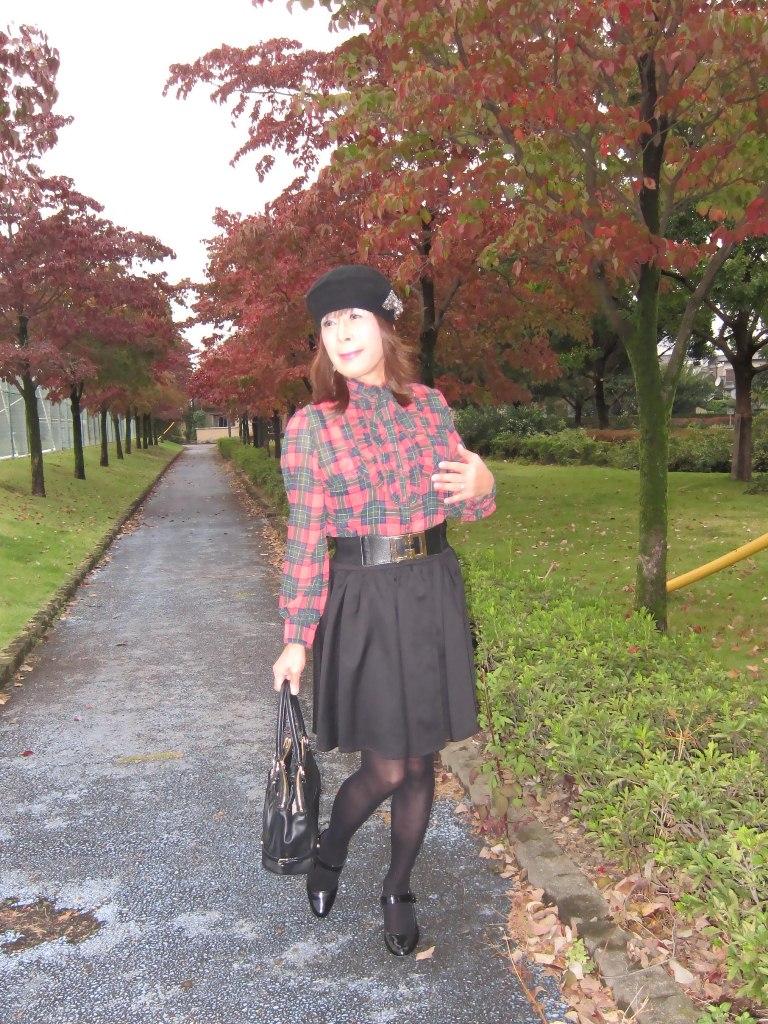 赤緑格子ブラウスA(6)