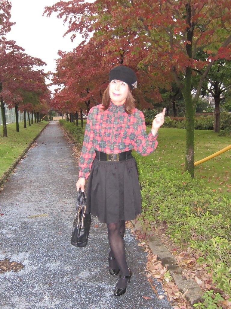 赤緑格子ブラウスA(7)