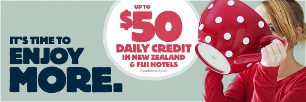 ル・クラブ・アコーホテルズ最大$ 50のホテルクレジットがもらえます。