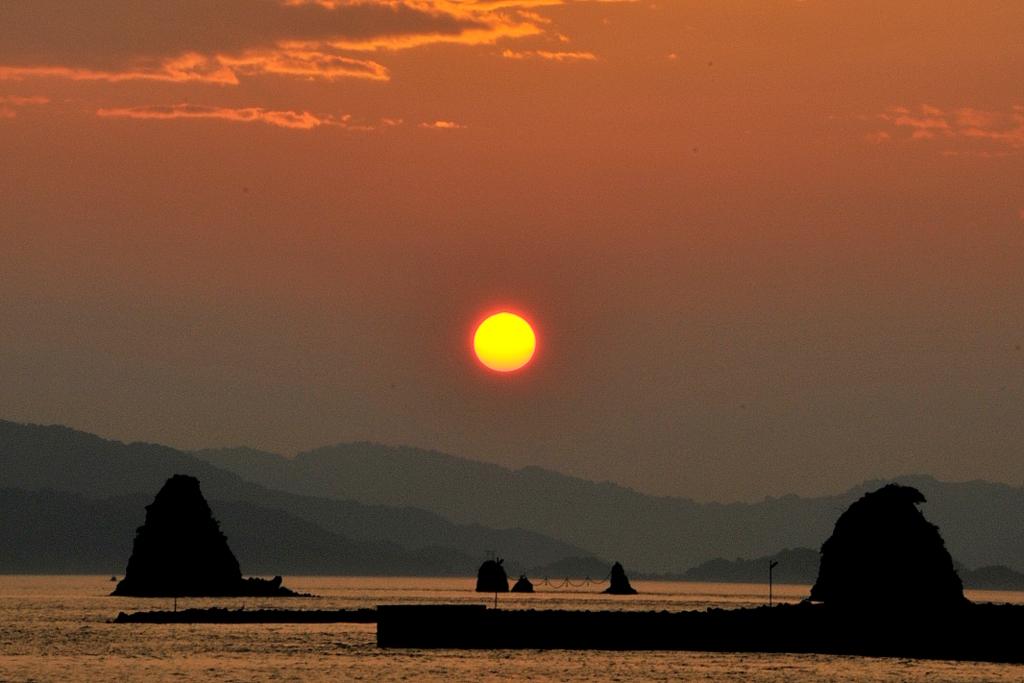 鹿島の夕焼け
