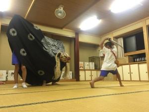 20150904獅子舞練習