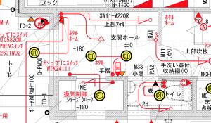 玄関電気図面