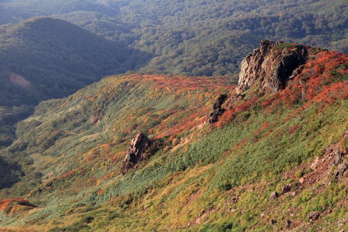 l150923栗駒山稜線の紅葉