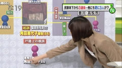 久保田智子胸チラ・ブラチラ・キャミチラ画像1