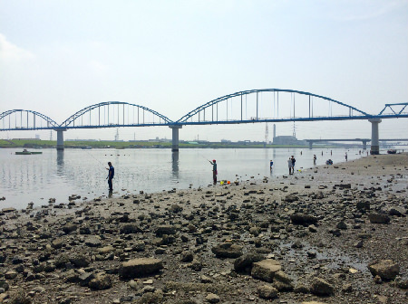 妙典河川敷 ハゼ釣り場