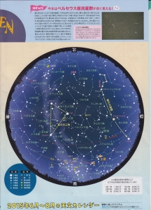 夏の星空全体図