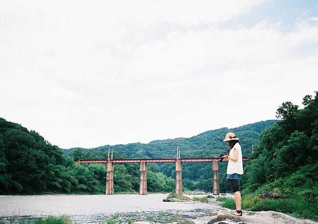 優ちゃんと赤い橋