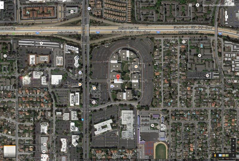 アップル本社(Google Map)