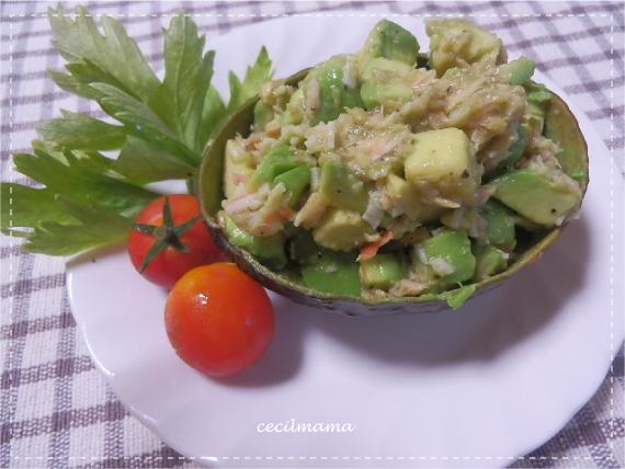アボカドココット料理