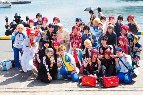 第3回岩美町イカ祭り&コスプレイベント集合写真