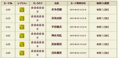 戦くじ履歴4