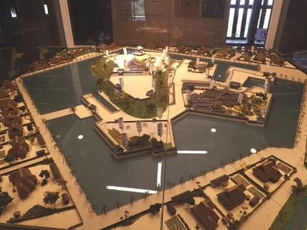丸岡城復元模型