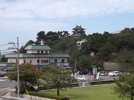 丸岡城遠望(資料館より)